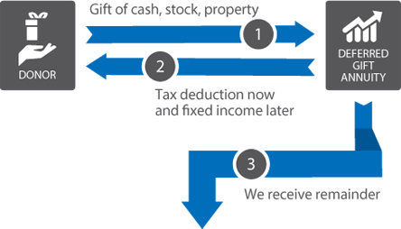 Deferred Gift Annuity Gift Diagram